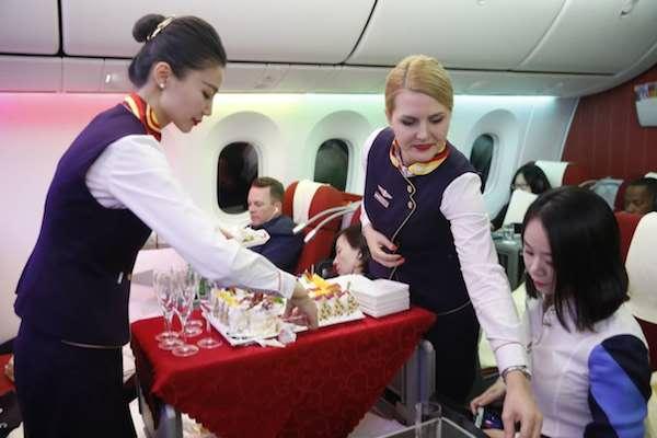 海航北京=拉斯维加斯航班成功起航